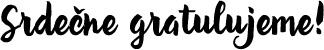 Srdečne gratulujeme